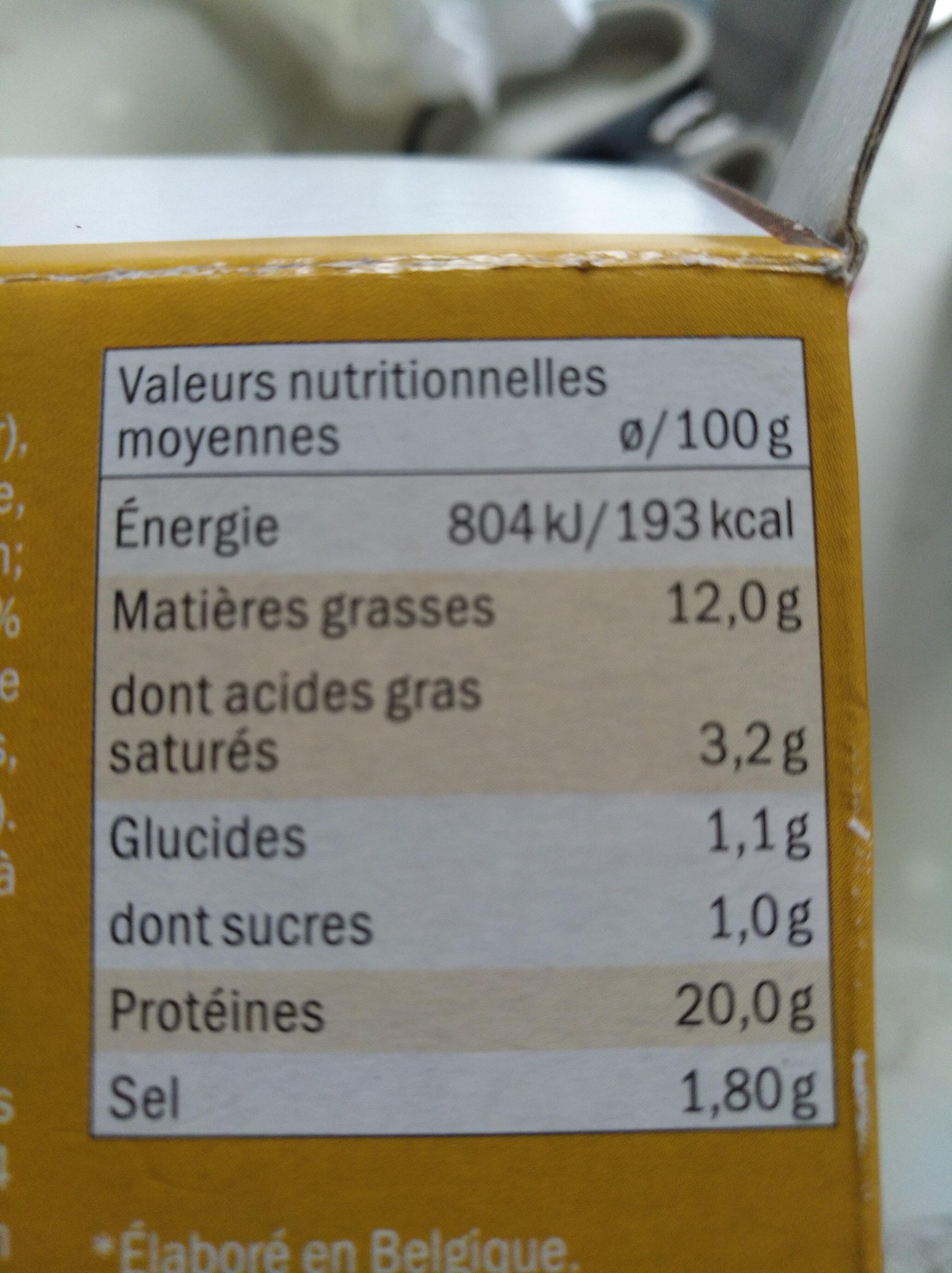 Jambonneau - Nutrition facts - fr