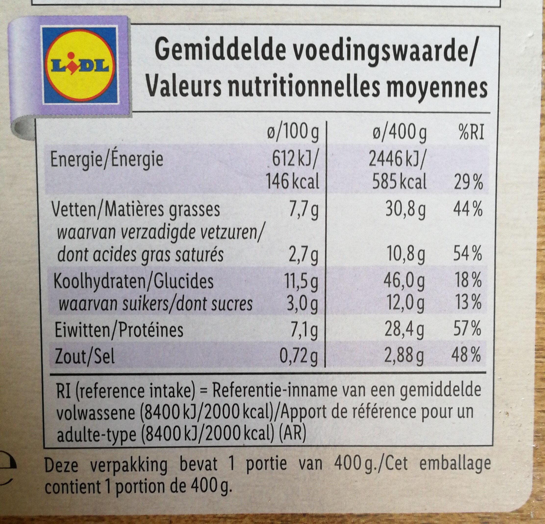 Tikka massala - Voedingswaarden - fr