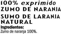 Zumo de naranja con pulpa - Ingredientes - es