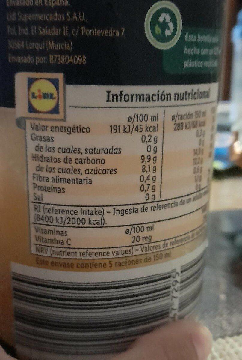 Zumo de naranja con pulpa - Información nutricional - es