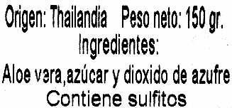 """Aloe vera deshidratado en trozos """"Alesto"""" - Ingredients - es"""