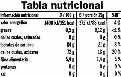 Arándanos deshidratados - Informations nutritionnelles