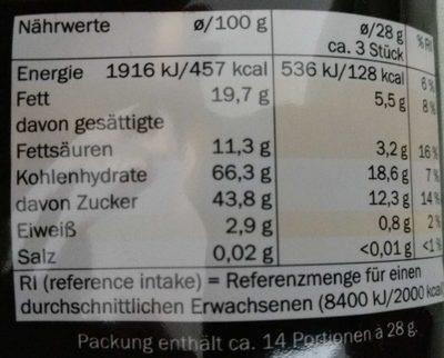Schoko Toffee - Valori nutrizionali - de