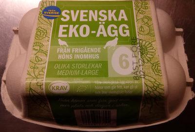 Svenska Eko-ägg från frigående höns inomhus - Product - sv