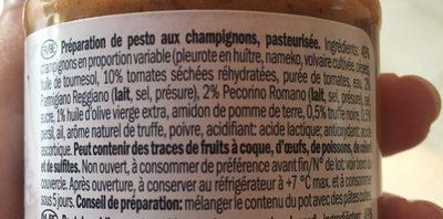 Truffle pesto - Ingrédients