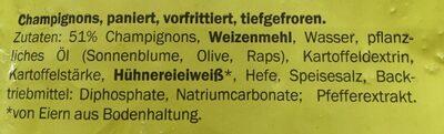 Panierte Champignons - Ingredients - fr