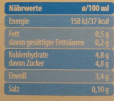 Haltbare Leichtmilch - Nutrition facts - de