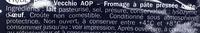 Piave Vecchio DOP (36% MG) - Ingrédients