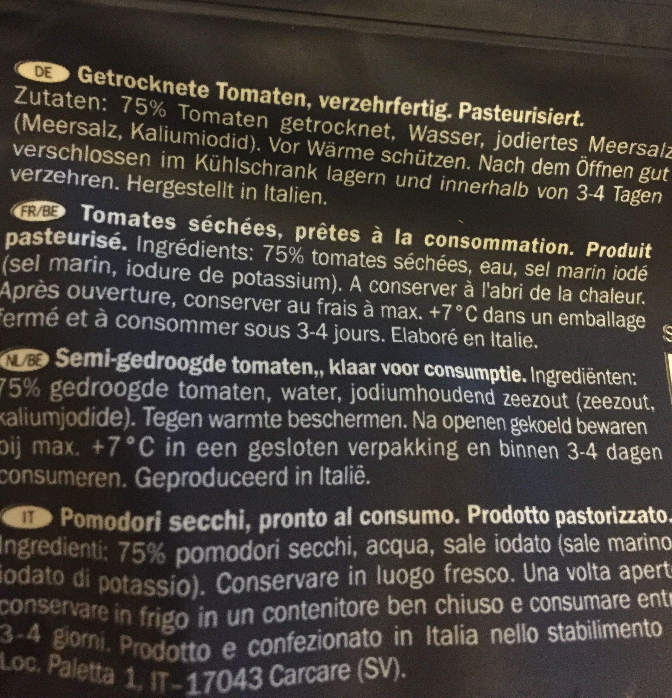 Pomodori Secchi, Getrocknete Softtomaten - Ingredients - fr