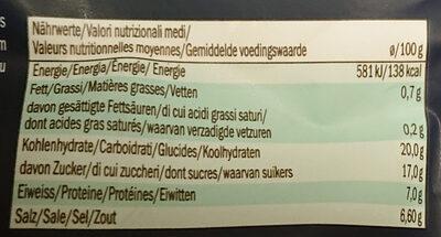 Pomodori Secchi, Getrocknete Softtomaten - Nutrition facts - fr