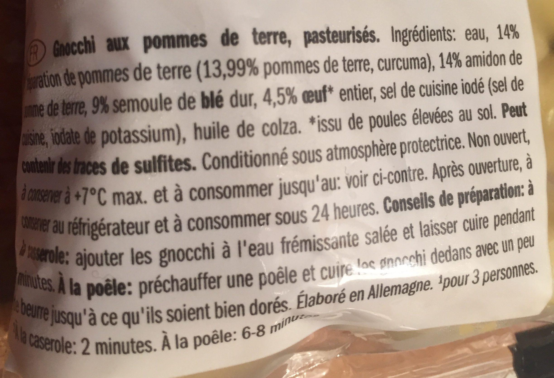 Gnocchi - Ingredienti - fr