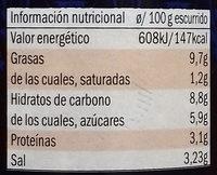 Pomodori secchi in olio di girasole - Información nutricional - es