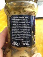 Champignons de Paris à l'huile de tournesol - Ingredienti - fr