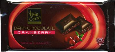 Dark chocolate Cranberry 57% cocoa - Producte - de
