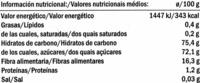 """Manzana deshidratada """"Alesto"""" - Información nutricional"""