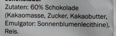 Snacky Cracky Reis Waffeln Zartbitterschokolade, Z... - Ingredienti - de