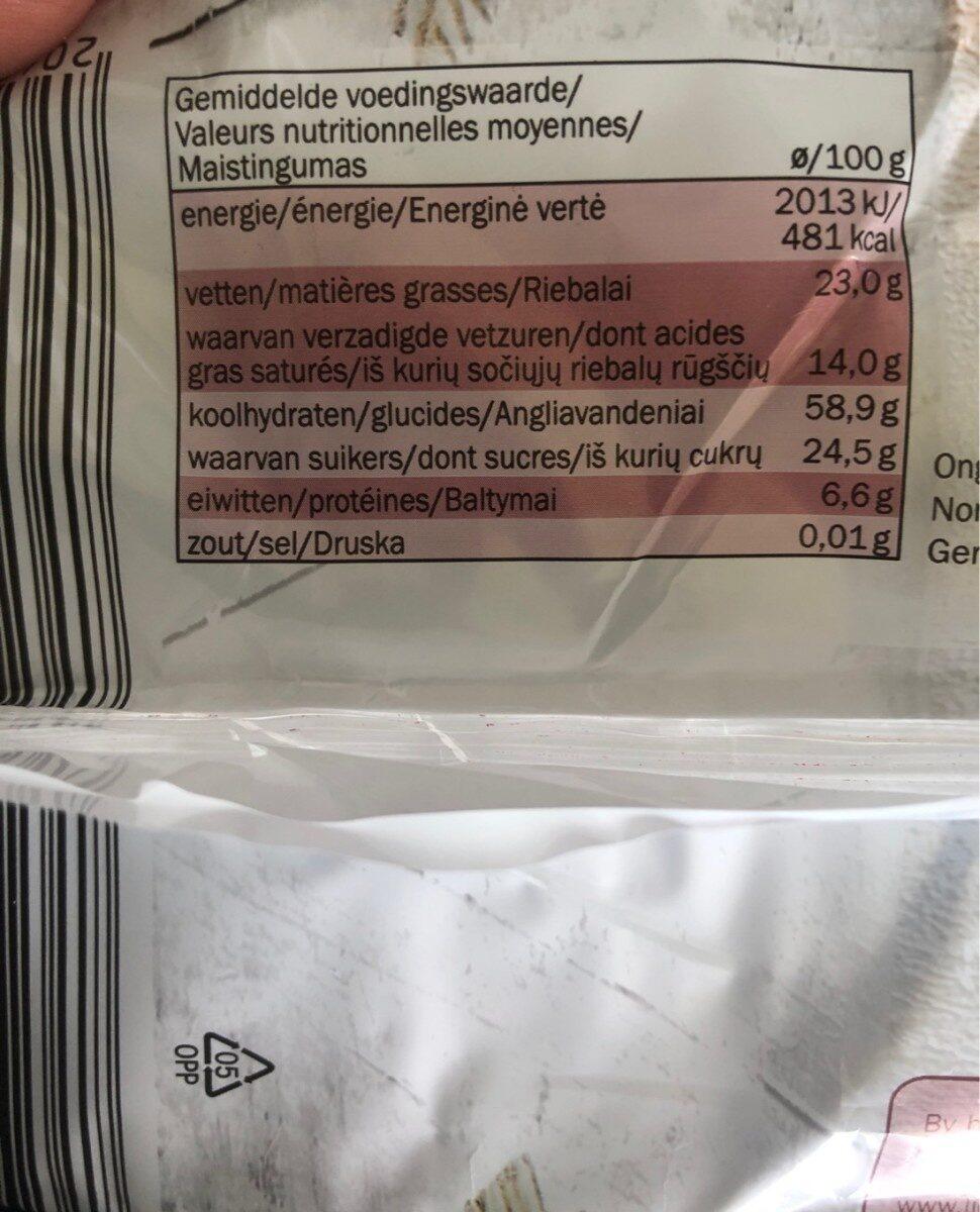 Snacky Cracky Reis Waffeln Zartbitterschokolade, Z... - Valori nutrizionali - de