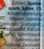 Der Leichte Kräuterquark - Inhaltsstoffe
