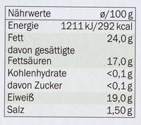 Brique de chèvre - Informació nutricional