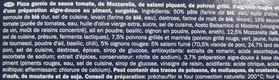 Pizza Arrabbiata - Inhaltsstoffe