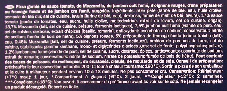 Pizza Proscuitto e Mozzarella - Inhaltsstoffe