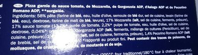 Italiamo Pizza Quattro Formaggi - Ingredients