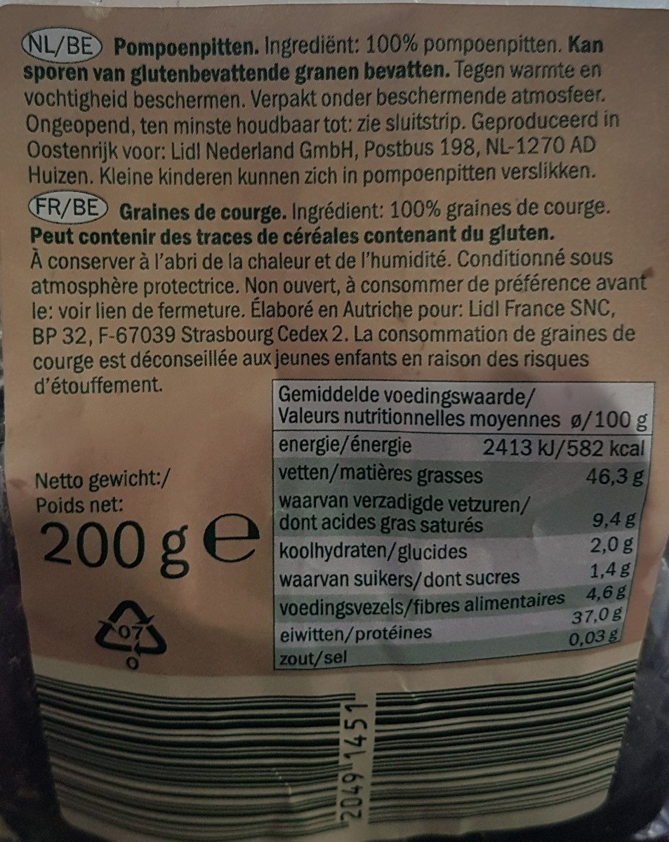 Pumpkin Seeds - Ingredienti - fr