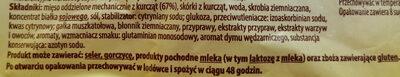 Parówki wędzone z kurcząt - Składniki