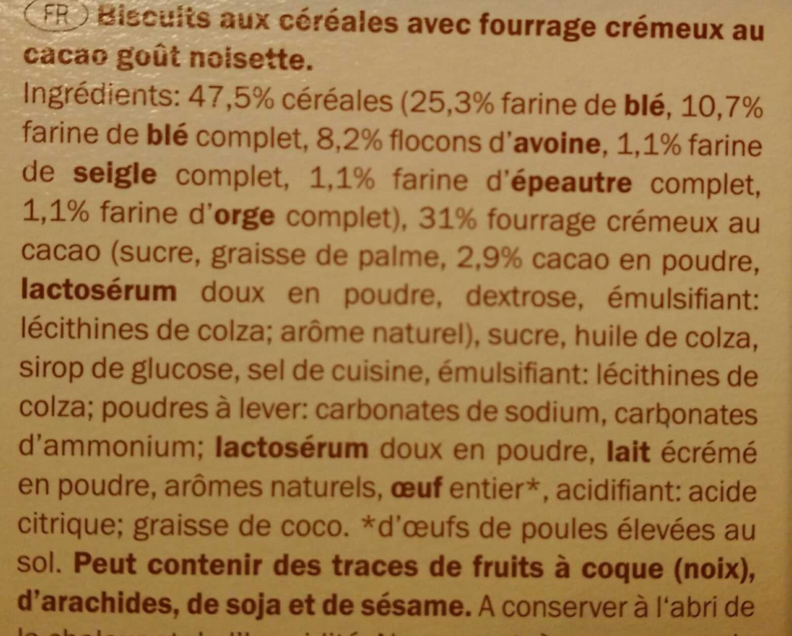 Envitas Cacao - Ingrédients - fr