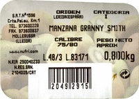 Manzana Granny Smith - Ingredientes - es