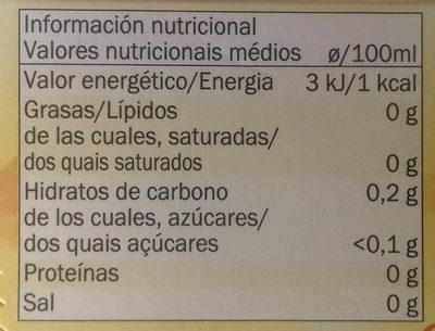 Manzanilla - Informations nutritionnelles - es