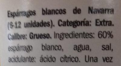 Esparragos de Navarra - Ingredients