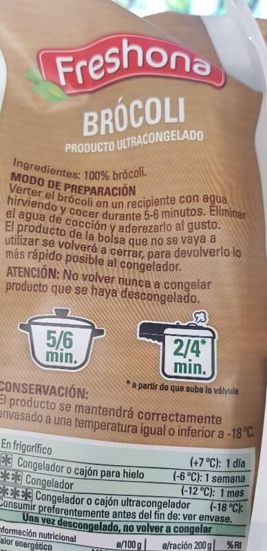 Brócoli - Ingrédients - es