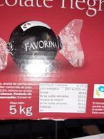Bombón chocolate negro - Información nutricional