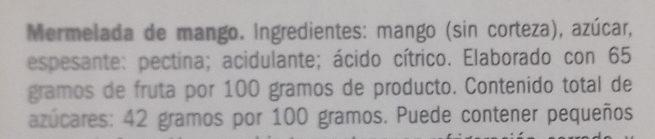 Mermelada de mango - Ingrediënten - es