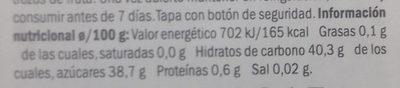 Mermelada de mango - Voedingswaarden - es
