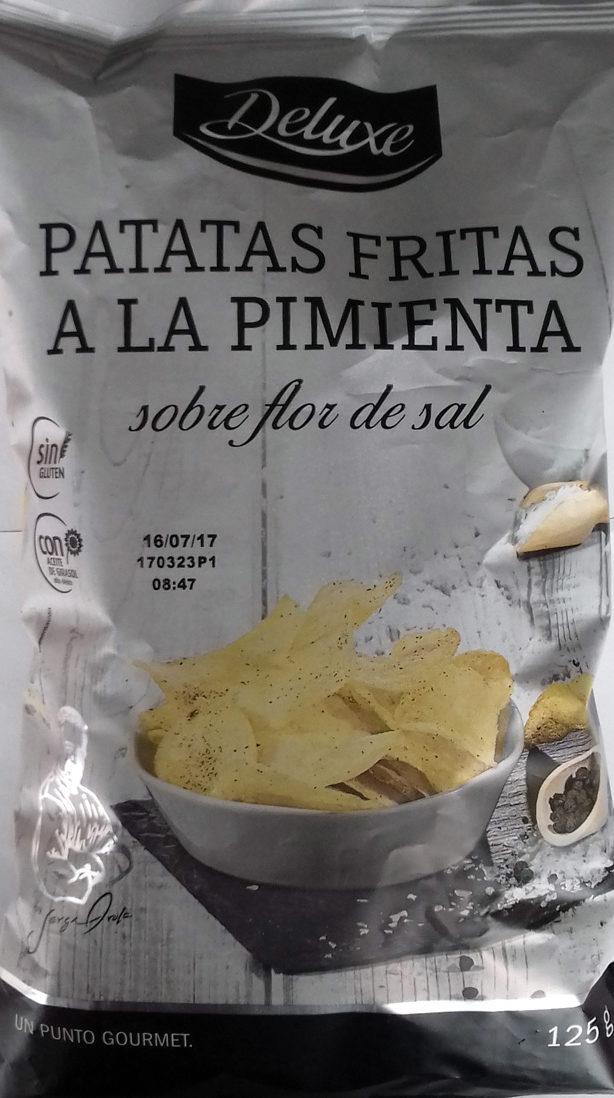 Patatas fritas - Pimienta negra sobre flor de sal - Product