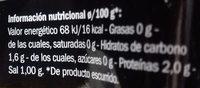 Setas mezcla - Información nutricional