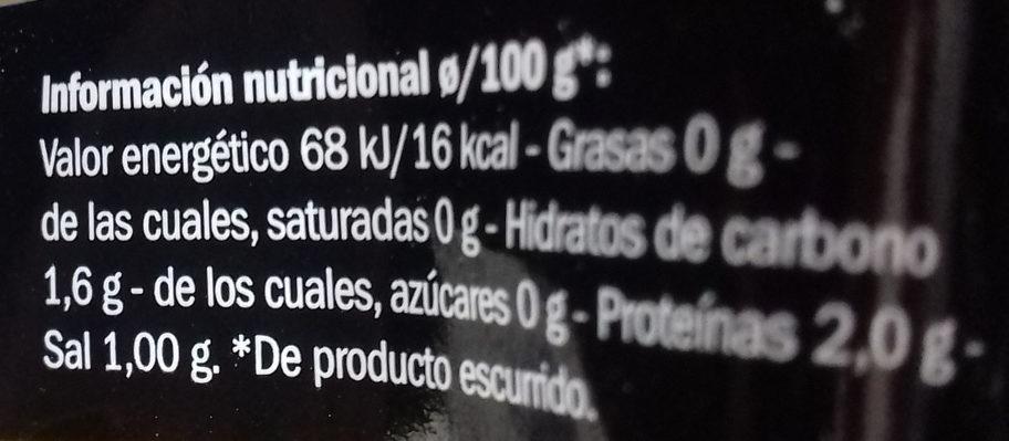 Setas al natural del bosque - Informació nutricional - es