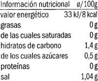 Cardo en conserva - Informations nutritionnelles - es