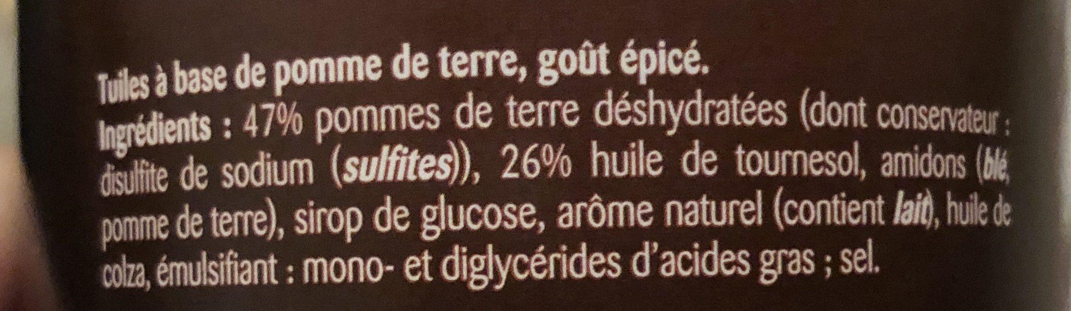 Hot & Spicy - Ingrédients - fr