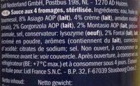 Crema Ai 4 Formaggi, 4-käse-sauce - Ingredients - fr