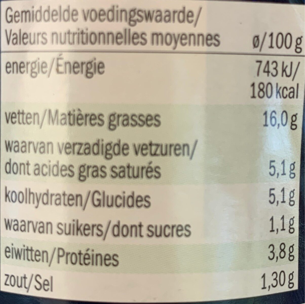 Crema Ai 4 Formaggi, 4-käse-sauce - Nutrition facts - fr