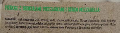 Pierogi z brokułami - Składniki