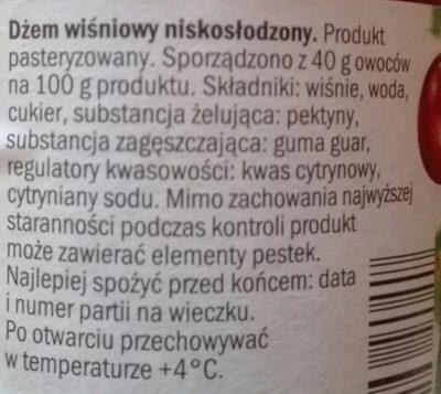 dżem wiśniowy - Składniki - pl