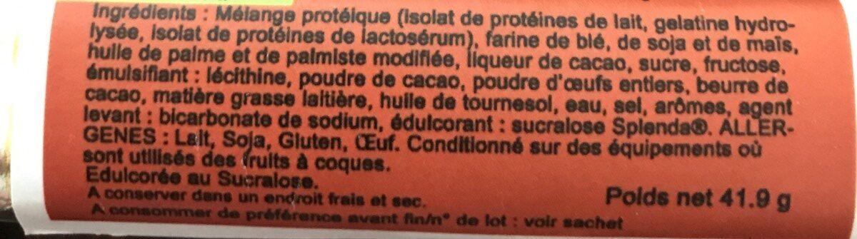 Gaufrette chocolat phase 2 - Ingrédients