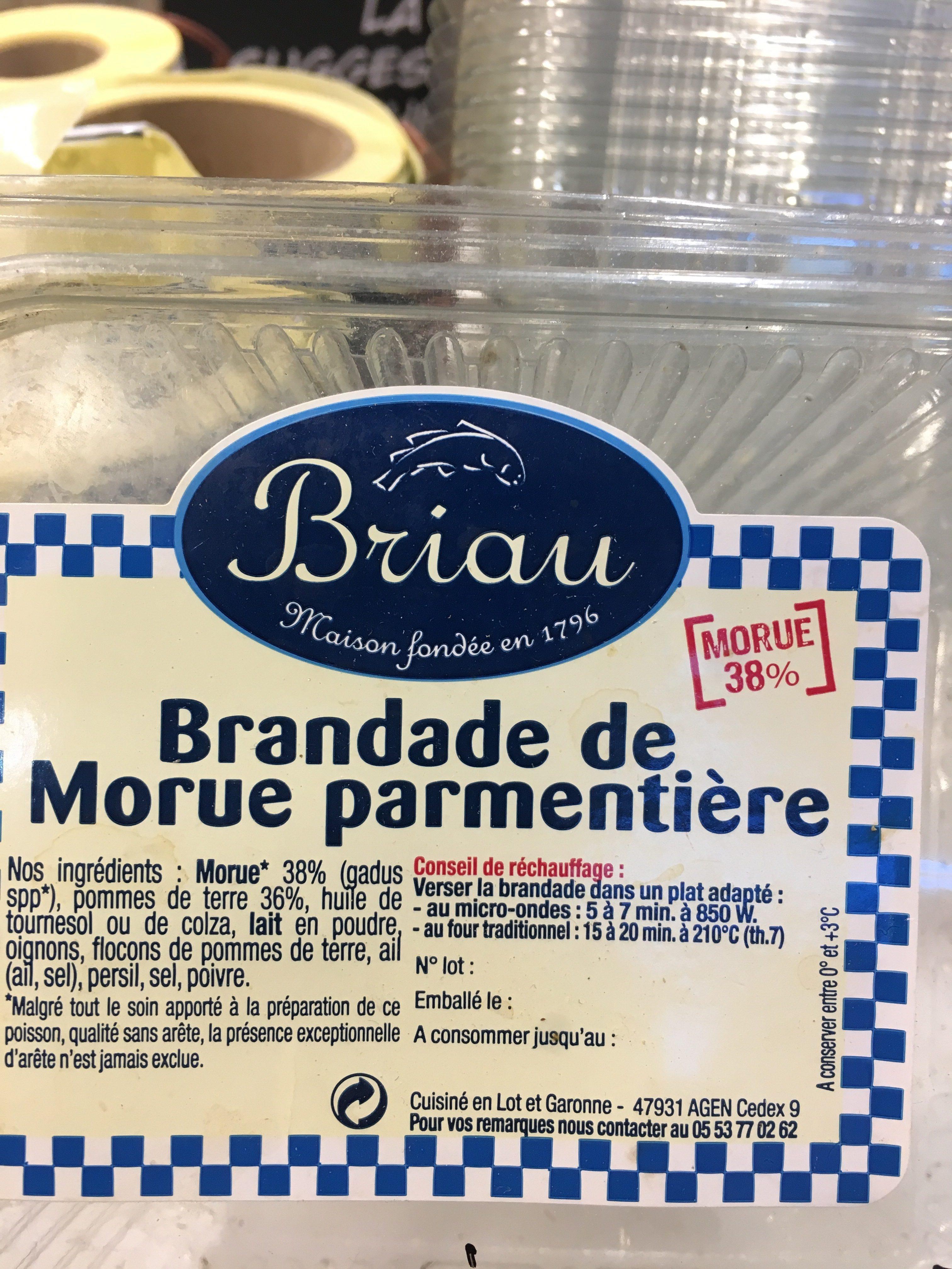 Brandade - Ingrédients - fr