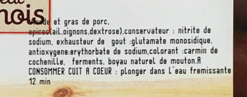 Metka petite F.E - Ingredients - fr