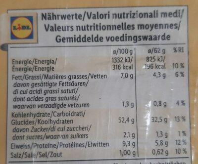 Tortilla wrap - Informations nutritionnelles - fr