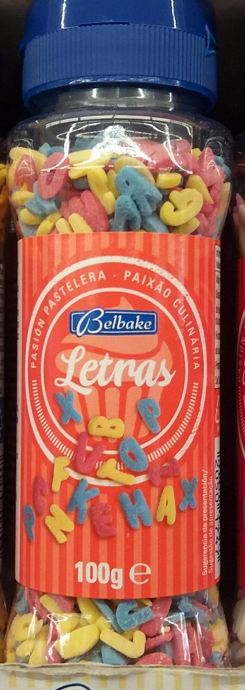 Kerst: Sugar Letters Busje 100 Gram (belbake) - Producto - es
